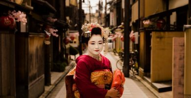 leyendas japonesas mujer con kimono