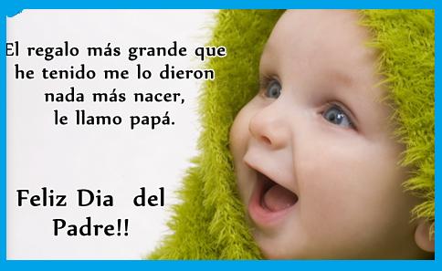 frases bonitas para el dia del padre cortas con imágenes de bebes